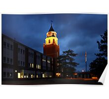 Pulliam Hall Clock Tower Poster