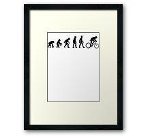 Bicycle Evolution Framed Print