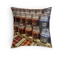 Yankee candle store Throw Pillow