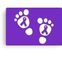World Prematurity Day - Baby Feet Canvas Print