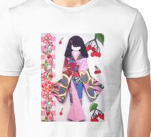 Beautiful Japanese paper doll in kimono Unisex T-Shirt