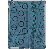 Slate Blue, Turquoise and Black Abstract iPad Case/Skin