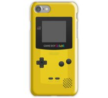 Yellow Nintendo Gameboy Color iPhone Case/Skin