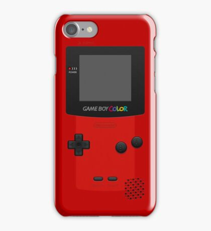 Red Nintendo Gameboy Color iPhone Case/Skin
