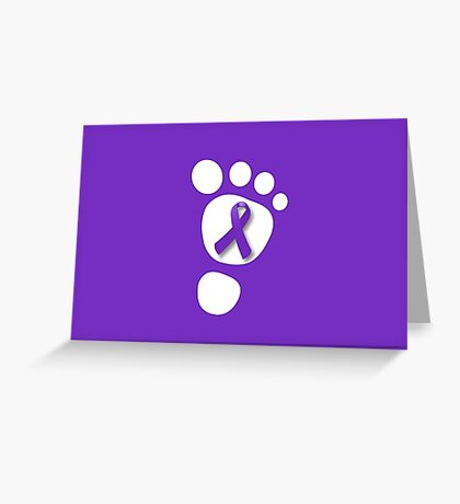 World Prematurity Day - Baby Foot Greeting Card