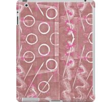 Rose, Pink and White Monoprint Abstract iPad Case/Skin