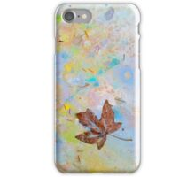 Soaring Leaf 'Rain Painting' iPhone Case/Skin