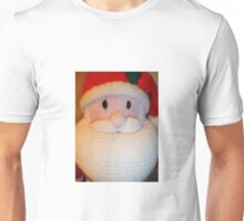 Hand Knitted Father Christmas Unisex T-Shirt
