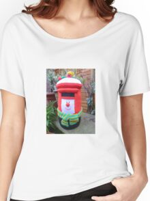 Hand Knitted Red Post Box Women's Relaxed Fit T-Shirt