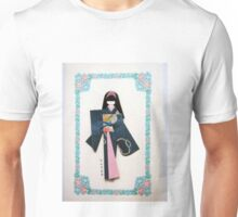 Beautiful Japanese hand crafted paper doll Unisex T-Shirt