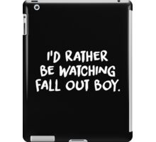 White Brush Text (Black) iPad Case/Skin