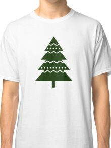 Christmas 2016 - Christmas Tree Design - Green and White Classic T-Shirt