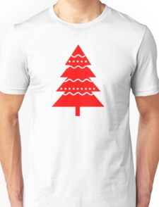 Christmas 2016 - Christmas Tree Design - Red and White Unisex T-Shirt