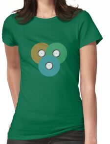 Colourful Lovely Vintage Vinyl Disk Music Recorder Womens Fitted T-Shirt