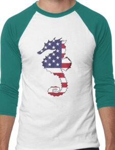 American Flag – Seahorse Men's Baseball ¾ T-Shirt