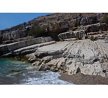 Rocky Edge on a Wild Beach - Travel Photography Photographic Print