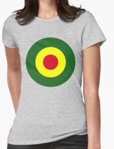 Rasta Mod Target Womens Fitted T-Shirt