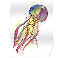 Watercolor Jellyfish Poster