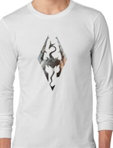 Skyrim Logo Dovakhin Long Sleeve T-Shirt