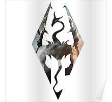 Skyrim Logo Dovakhin Poster