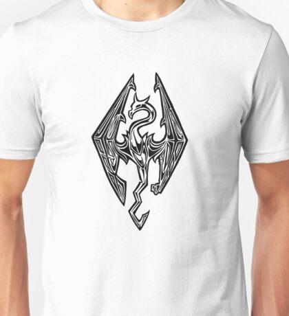 Skyrim Logo Dovah Dragon Unisex T-Shirt