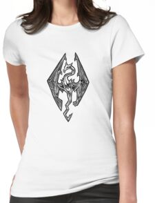 Skyrim Logo Dovah Dragon Womens Fitted T-Shirt