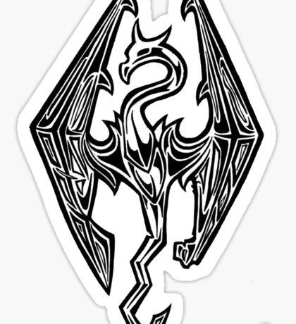 Skyrim Logo Dovah Dragon Sticker