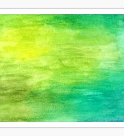 Blue and Green Abstract Watercolour  Sticker