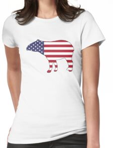 American Flag – Tapir Womens Fitted T-Shirt
