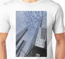Soft and Hard - Manhattan Skyscrapers and Cloud Puffs Unisex T-Shirt