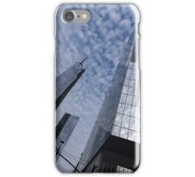 Soft and Hard - Manhattan Skyscrapers and Cloud Puffs iPhone Case/Skin