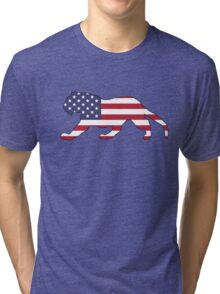 American Flag – Tiger Tri-blend T-Shirt