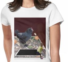Chicken That Ate All The Golden Eggs, Pop Out Art. Womens Fitted T-Shirt