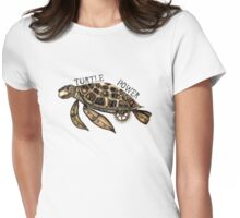 Steampunk turtle Womens Fitted T-Shirt