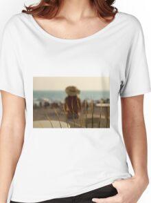 Wonderful Girl Sunbathing Women's Relaxed Fit T-Shirt