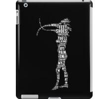 Depeche Mode : Walking In My Shoes - Word White iPad Case/Skin