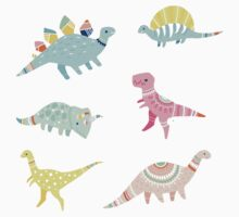 Dinosaur Pattern Kids Tee
