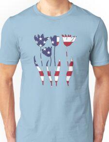 American Flag – Tulips Unisex T-Shirt