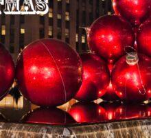 Christmas On 5th Avenue Manhattan 2 Sticker