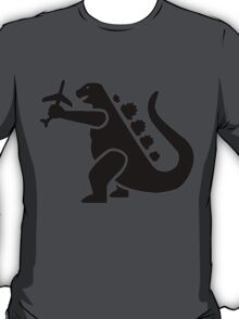 Godzilla Crushing Plane T-Shirt