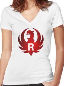 Ruger Vintage Grunge Women's Fitted V-Neck T-Shirt