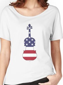 American Flag – Viola Women's Relaxed Fit T-Shirt