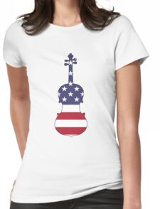 American Flag – Viola Womens Fitted T-Shirt