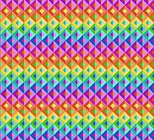 Bright Rainbow Abstract Geometric Background by amovitania