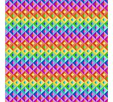 Bright Rainbow Abstract Geometric Background Photographic Print