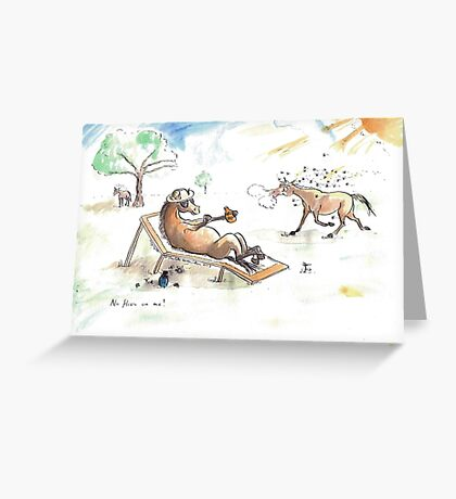 No Flies on Me! Greeting Card