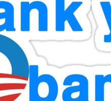 thank you president obama Sticker