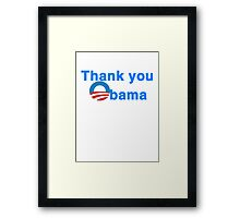 thank you president obama Framed Print