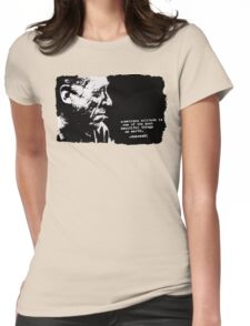 Charles BUKOWSKI - solitude QUOTE Womens Fitted T-Shirt