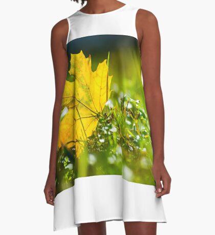 Leaf High quality photo A-Line Dress